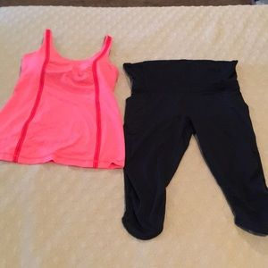 Lululemon Size 8 Tank and Size 10 Pants
